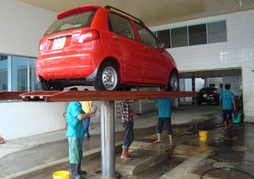 Các Loại Bàn Nâng Cầu Một Trụ Rửa Xe Ô Tô