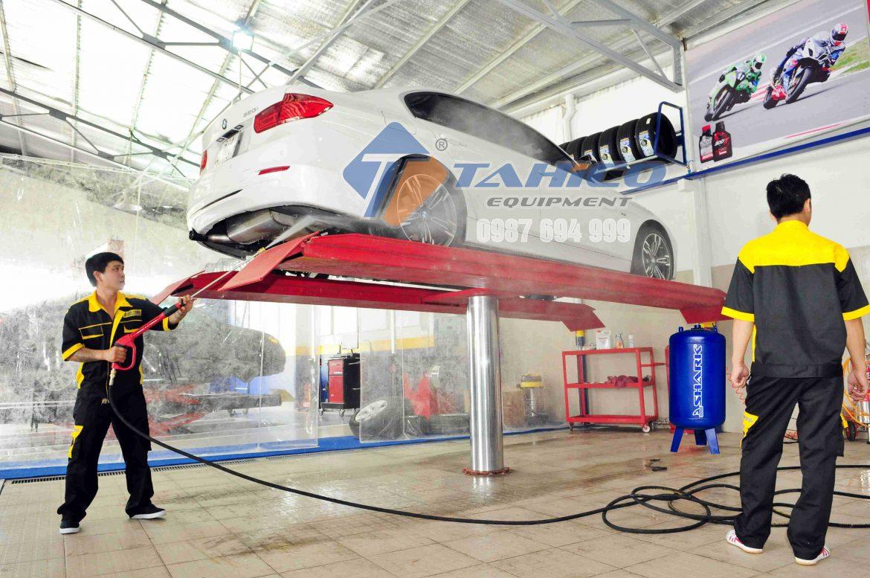 Cầu nâng 1 trụ thủy lực chuyên rửa xe ô tô