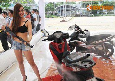 Máy Rửa Xe Máy Cho Tiệm Rửa Honda Vừa Và Nhỏ