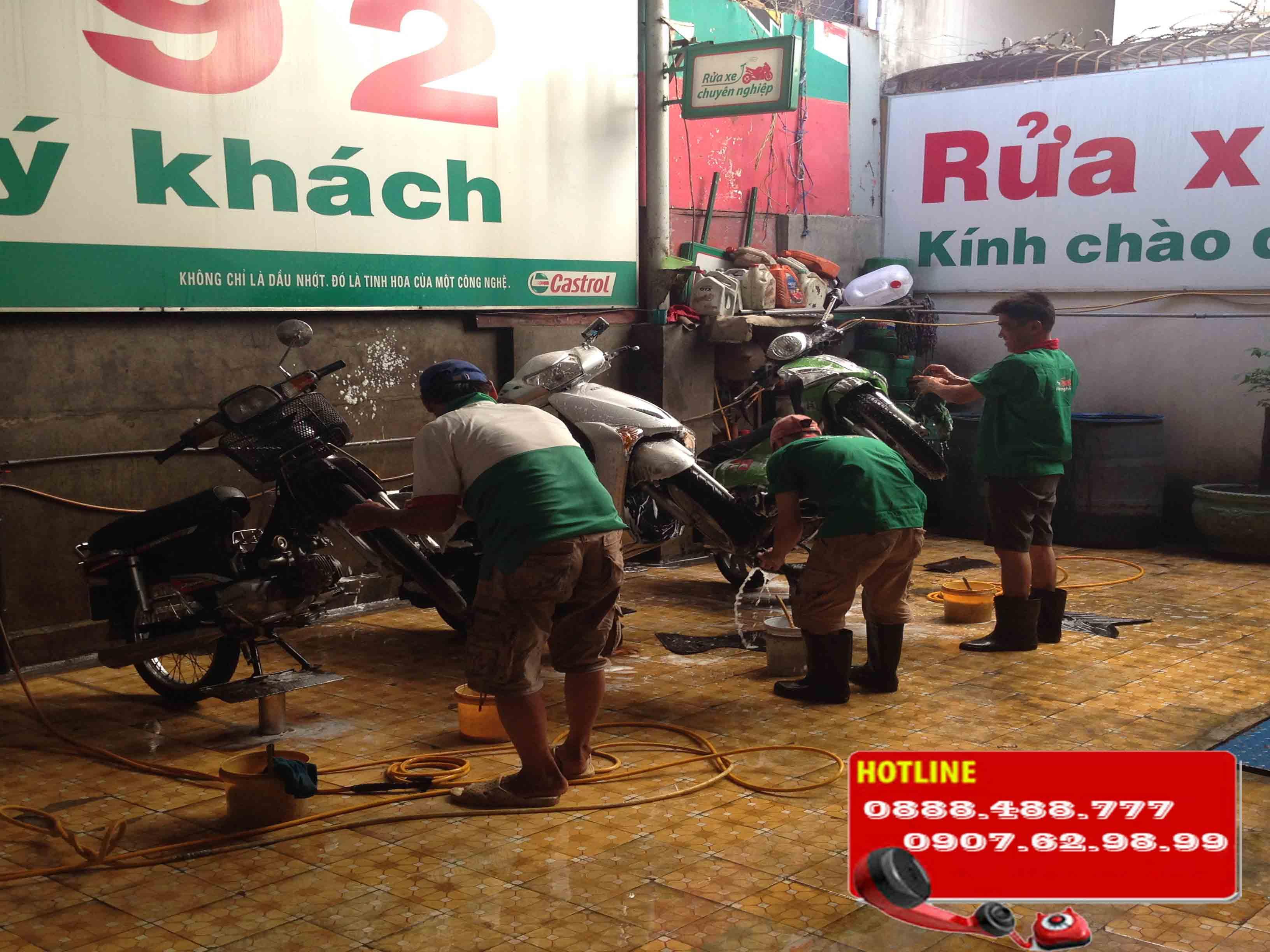 Một số hình ảnh các tiệm rửa xe mô tô mà công ty mới thi công lắp đặt.