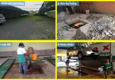 Dịch Vụ Lắp Đặt Trọn Gói Cầu Nâng 1 Trụ Rửa Xe Ô Tô