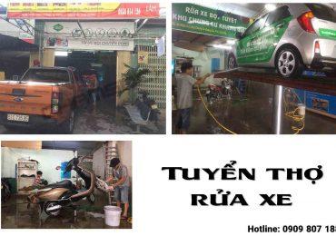 Tuyển thợ Rửa Xe Ô Tô Xe Máy Quận Gò Vấp – HCM
