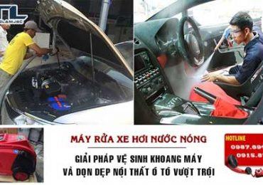 cham soc o to bang may rua xe hoi nuoc nong