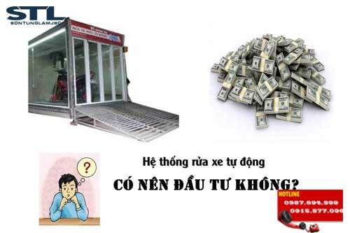 lap thong rua xe tu dong cho tiem rua xe nen hay khong