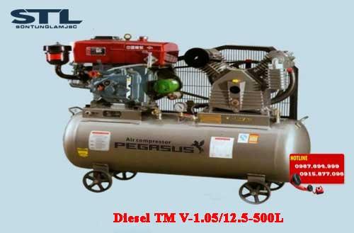 may nen khi chay dau diesel tm v 1.05 12.5 500l