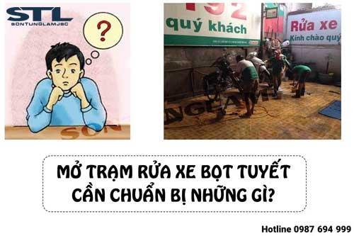 mo tram rua xe bot tuyet can chuan bi gi