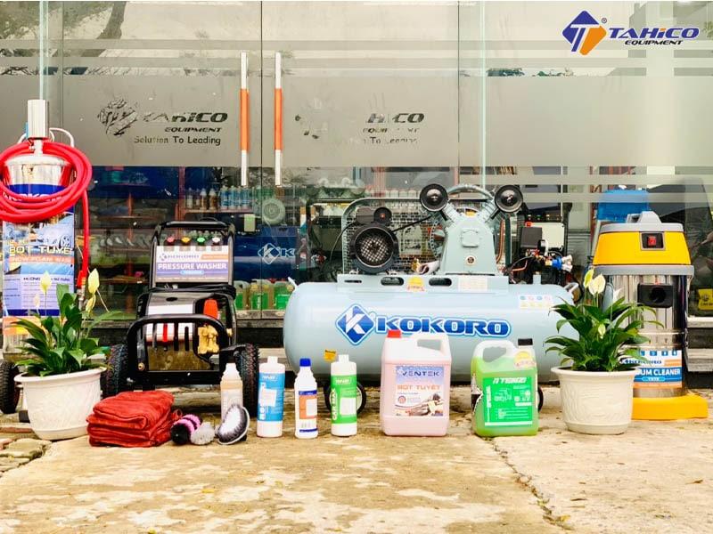 Đồ rửa xe chuyên dụng cho tiệm tại miền Trung