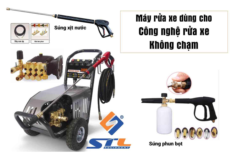 Máy rửa xe dùng cho công nghệ rửa xe không chạm