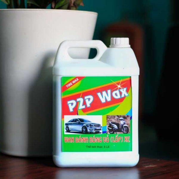 dung dich danh bong lop xe p2p wax 5l