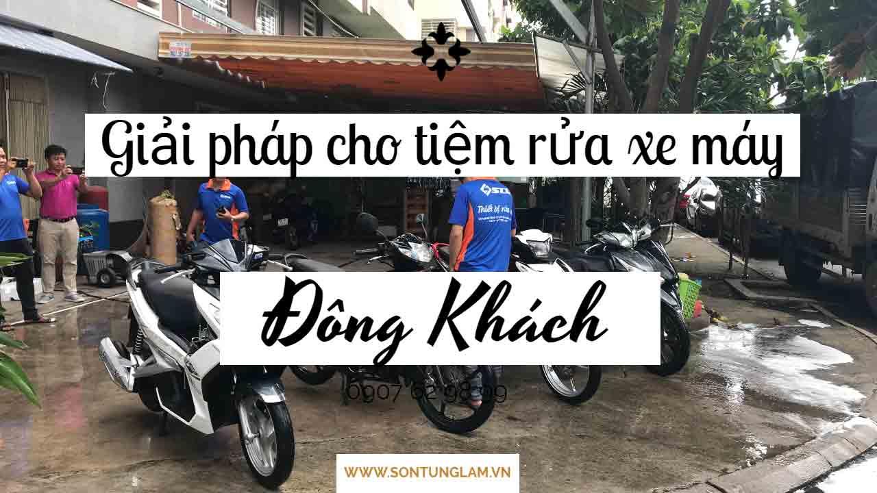 Rửa xe máy không chạm