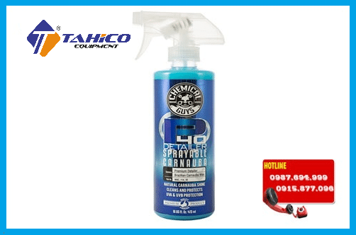 dung dich chemical guys p40 detailer spray carnauba 16 oz