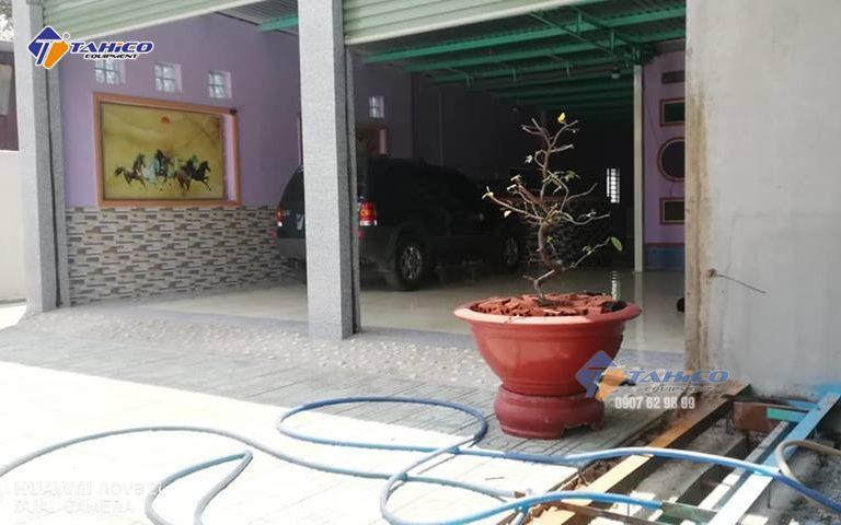 Mặt bằng tiệm rửa xe của anh Lắm, Tân Uyên, Bình Dương