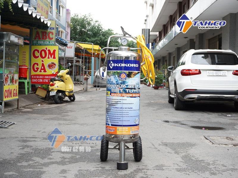 binh rua xe bot tuyet kokoro 60l min