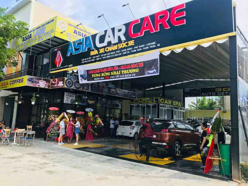 Trung tâm rửa xe và chăm sóc ô tô đối tác của Tahico