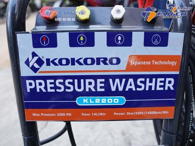 Thông số máy rửa xe cao áp Kokoro 2200